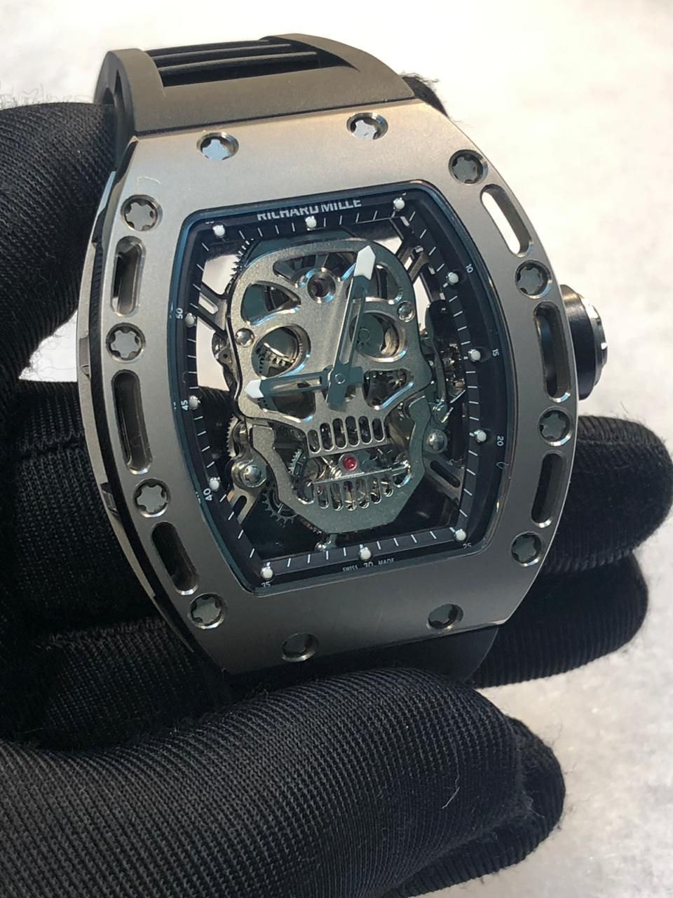 Richard Mille RM52 Skull Tourbillon Titanium Replica