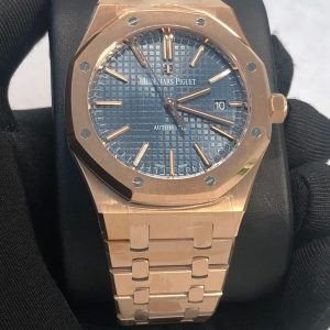 AP Royal Oak 15400 Replica Dubai rosegold blue Dial